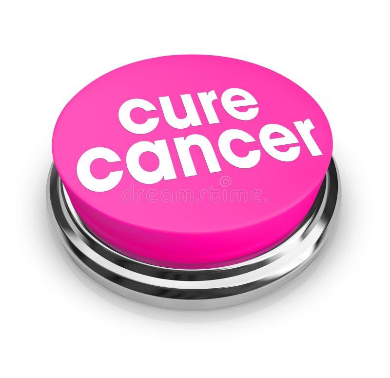 Cáncer de la curación - botón rosado ilustración del vector