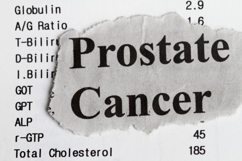 Cáncer de próstata foto de archivo libre de regalías