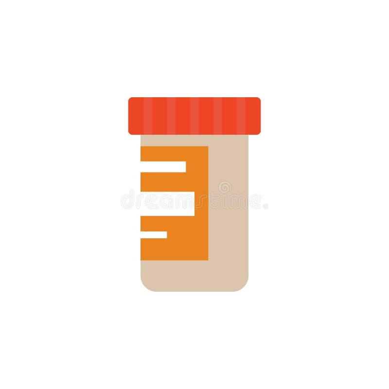 cápsula coloreada para el icono del análisis Elemento de la ciencia y del laboratorio para los apps móviles del concepto y del we stock de ilustración