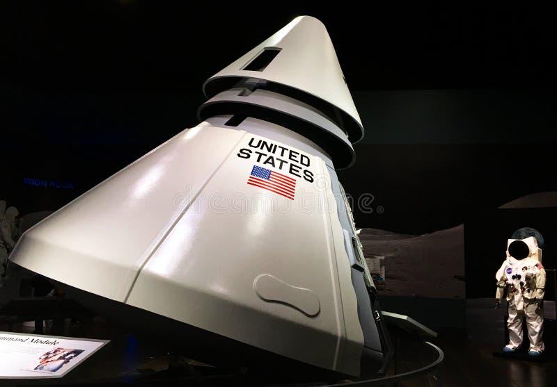 Cápsula de Apolo fotografía de archivo