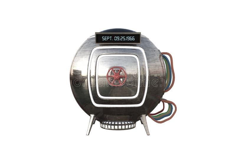 Cápsula de la máquina de tiempo ilustración del vector