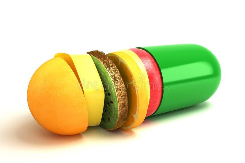 Cápsula de la vitamina ilustración del vector