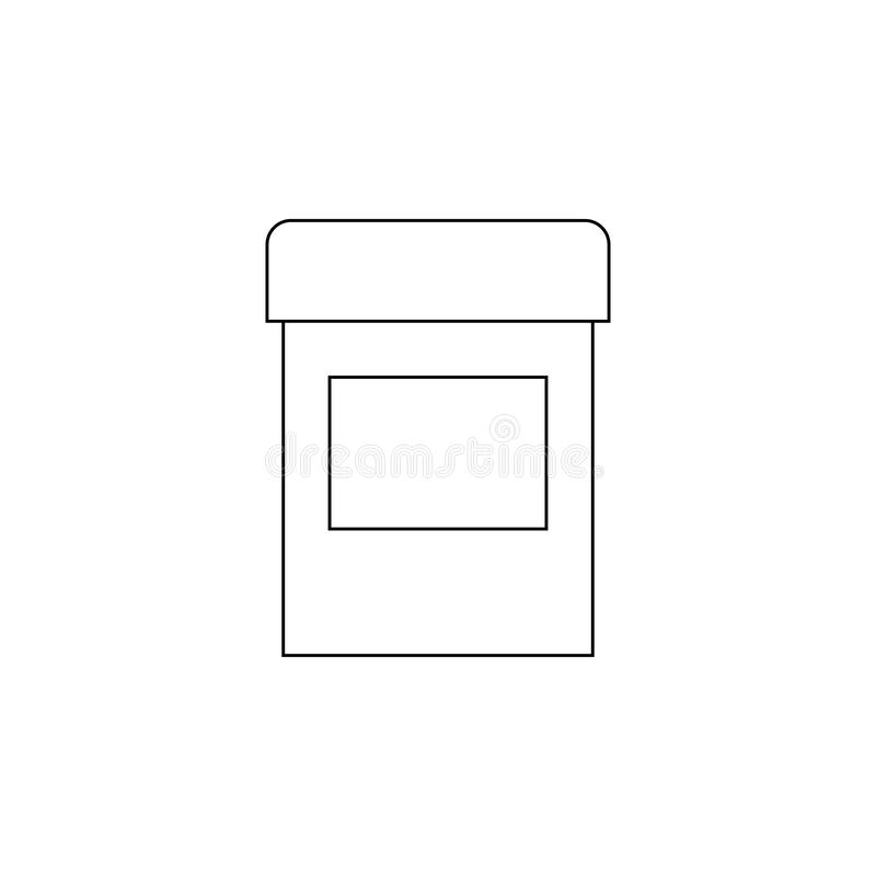 cápsula do ícone das drogas Elemento para apps móveis do conceito e da Web Linha fina ícone para o projeto do Web site e o desenv ilustração do vetor