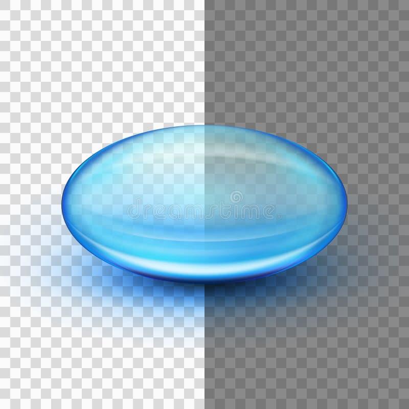 Cápsula macia translúcida do gel Eps 10 ilustração do vetor