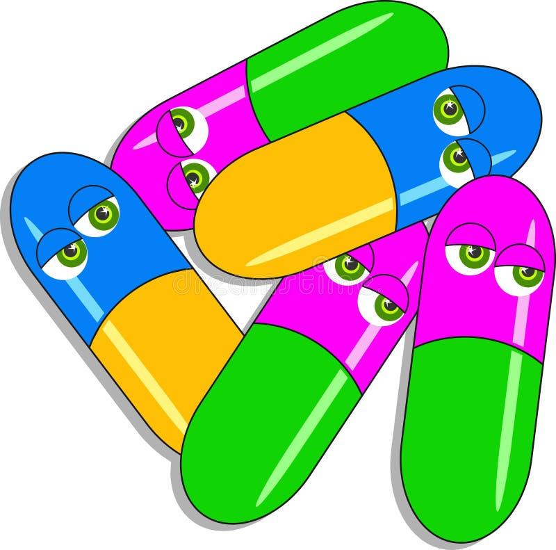 Cápsulas de la droga libre illustration