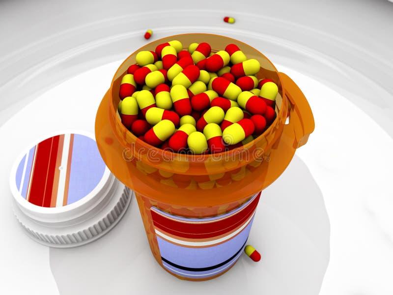 Cápsulas de la medicina stock de ilustración