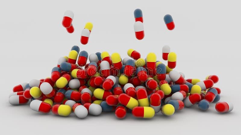 Cápsulas de la medicina libre illustration