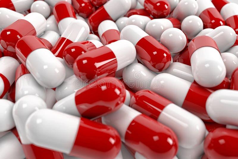 Cápsulas de la píldora ilustración del vector