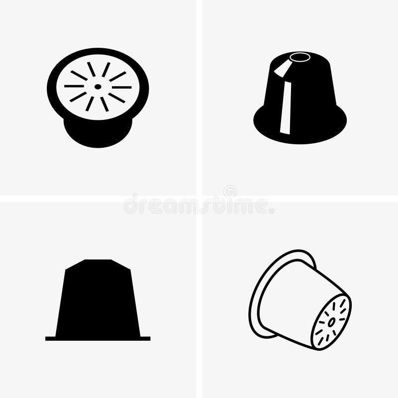 Cápsulas del café stock de ilustración