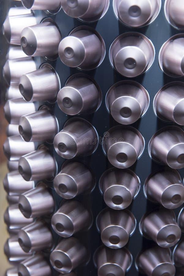 Cápsulas do café imagem de stock