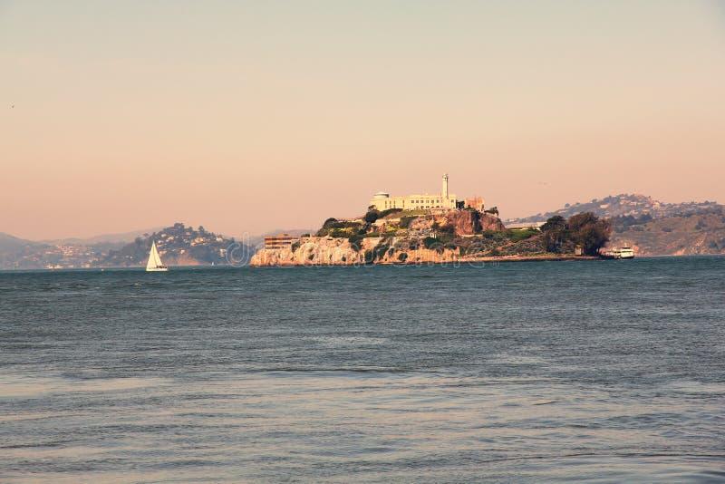 Cárcel de la isla de Alcatraz imagen de archivo libre de regalías
