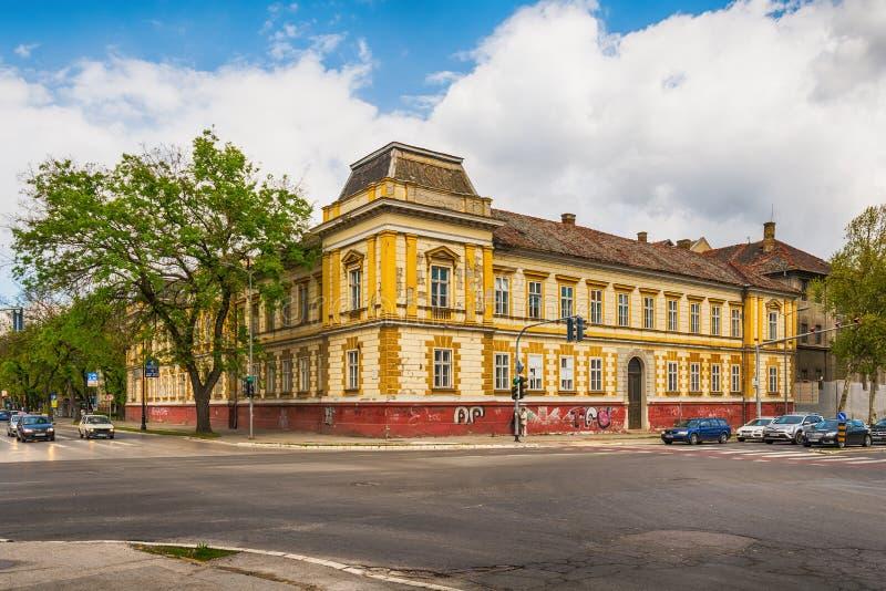 Cárcel del distrito en Subotica, Serbia imágenes de archivo libres de regalías
