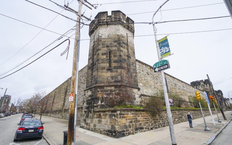 Cárcel del este del estado en Philadelphia - PHILADELPHIA - PENNSYLVANIA - 6 de abril de 2017 fotografía de archivo libre de regalías