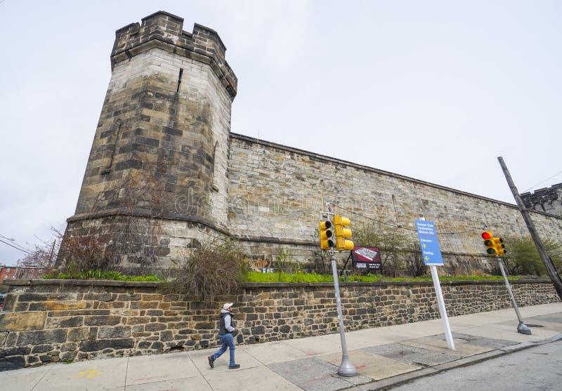 Cárcel del este del estado en Philadelphia - PHILADELPHIA - PENNSYLVANIA - 6 de abril de 2017 fotos de archivo