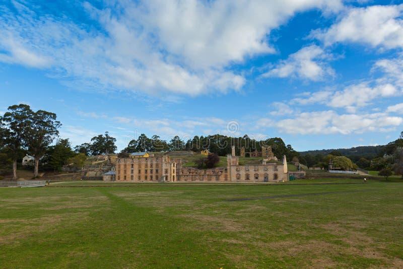Cárcel en el sitio de Arthur Historic del puerto en la península de Tasman adentro imagen de archivo libre de regalías
