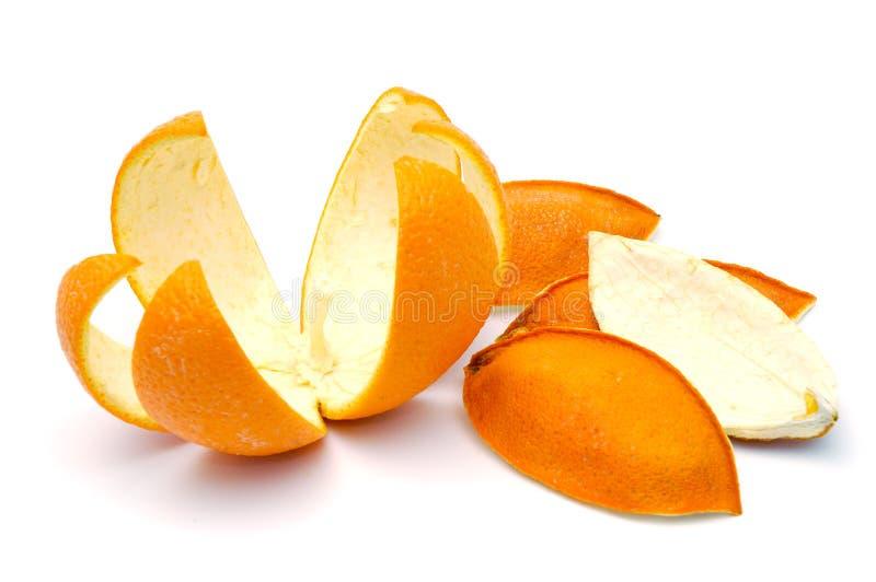 Cáscara anaranjada fotos de archivo