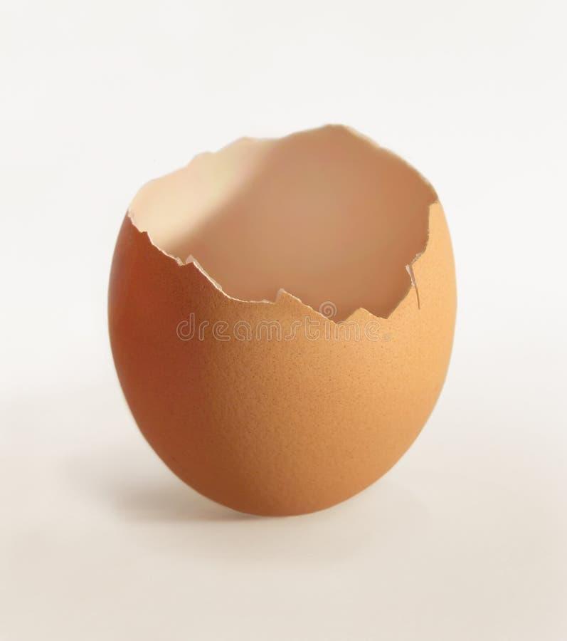 Cáscara de huevo agrietada fotos de archivo