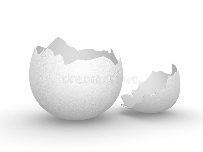 Cáscara de huevo vacía quebrada imágenes de archivo libres de regalías