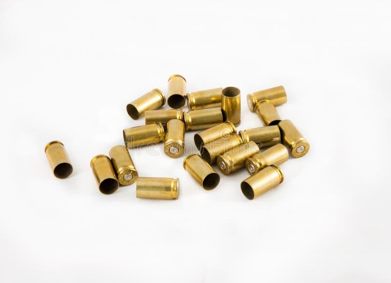Cáscara de la munición 9 milímetros fotos de archivo
