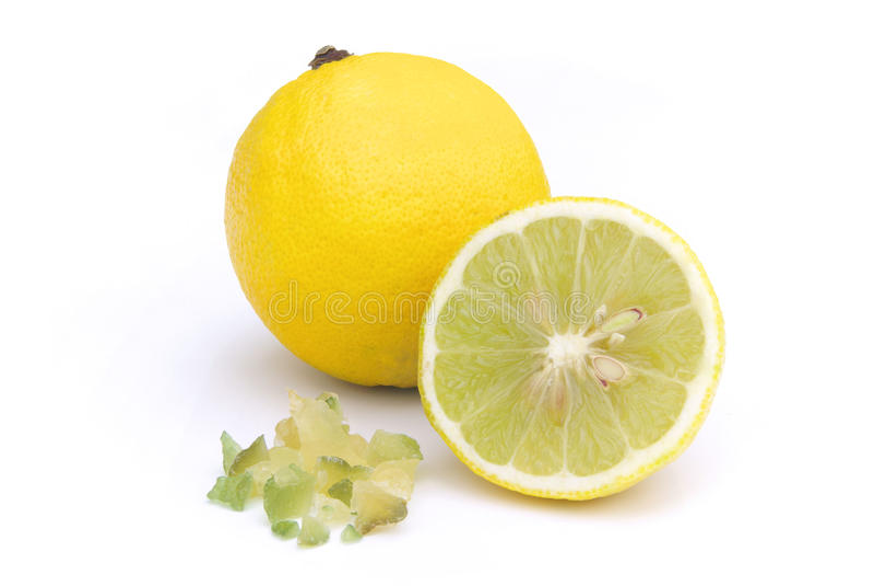 Cáscara de limón escarchada imagen de archivo libre de regalías