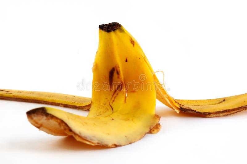 Cáscara de un plátano imagen de archivo