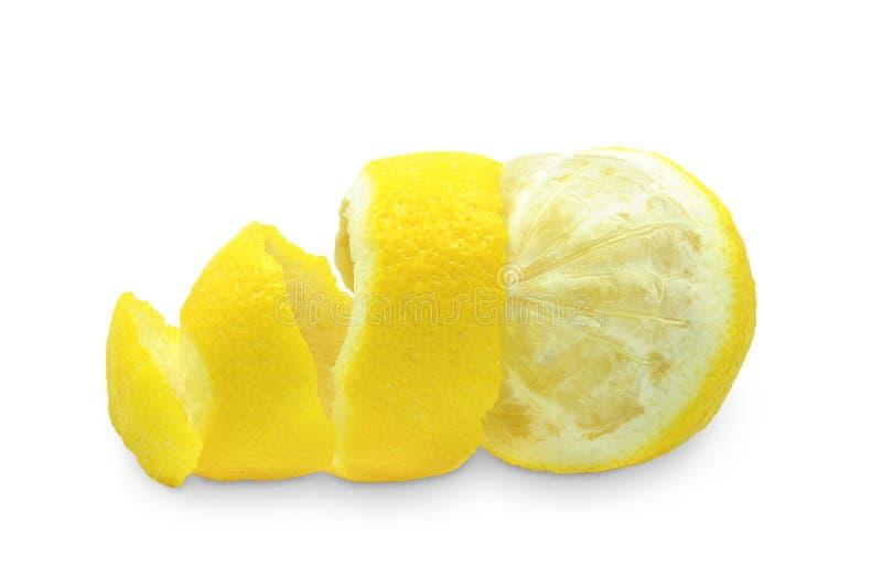 Cáscara del limón imagenes de archivo