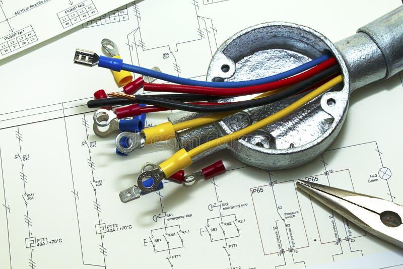 Câblage électrique photo libre de droits