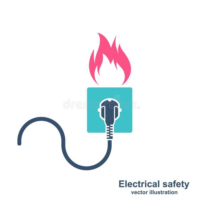 Câblage coloré du feu de silhouette illustration de vecteur