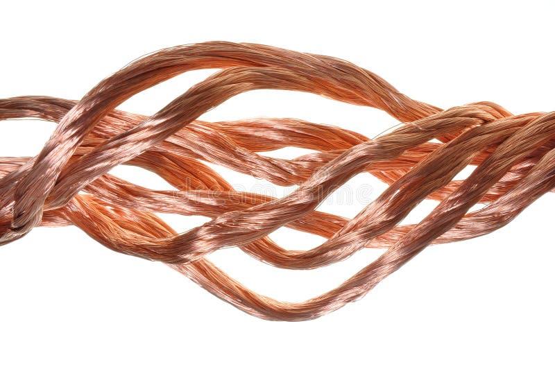 Câblage cuivre image libre de droits