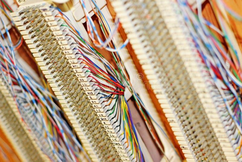 Câblage de téléphone images stock