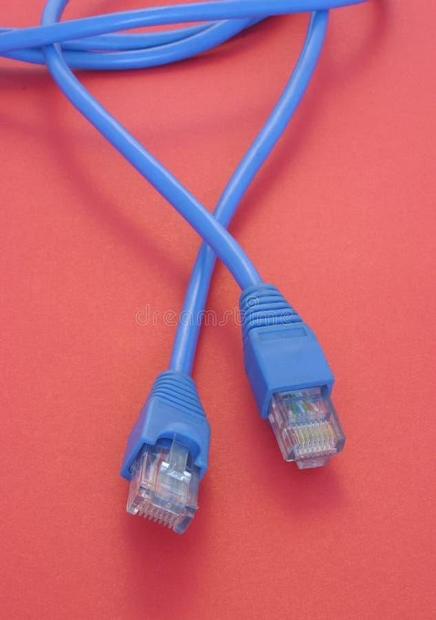 Câble à bande large RJ-45 photographie stock libre de droits