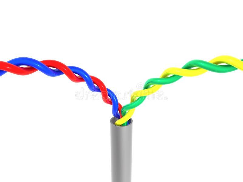 Câble illustration stock