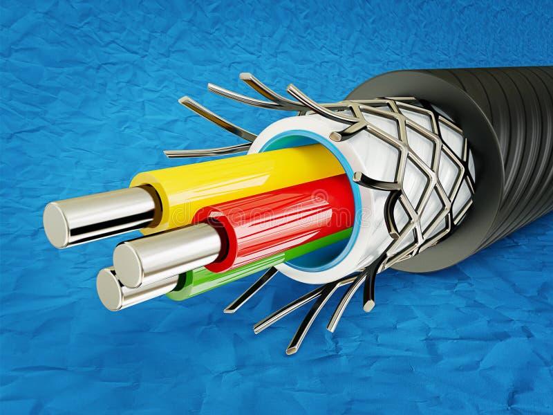 Câble illustration libre de droits