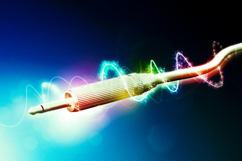 Câble audio à l'arrière-plan abstrait illustration libre de droits