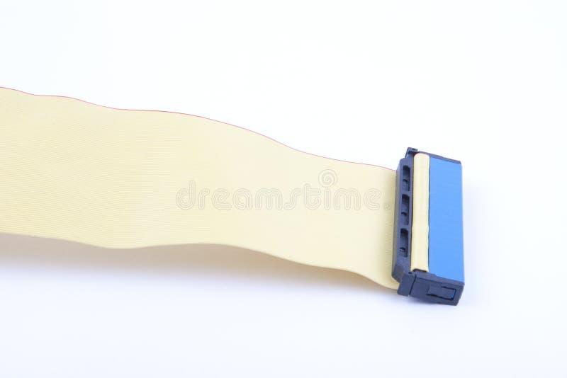 Câble avec des connecteurs images stock