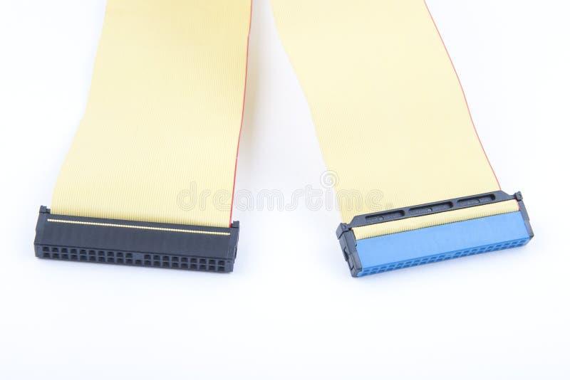 Câble avec des connecteurs photographie stock libre de droits