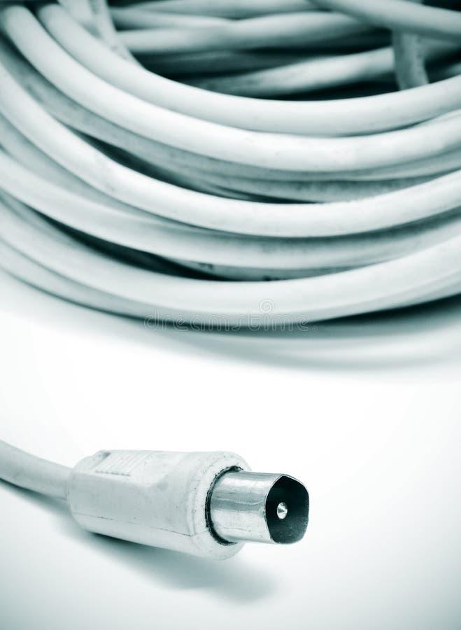 Câble coaxial de liaison photo libre de droits