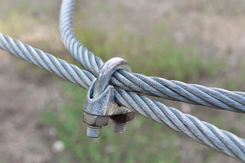 Câble d'acier en métal photo stock
