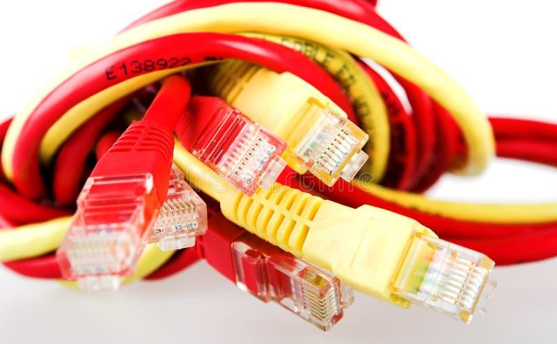 Câble d'ordinateur photographie stock