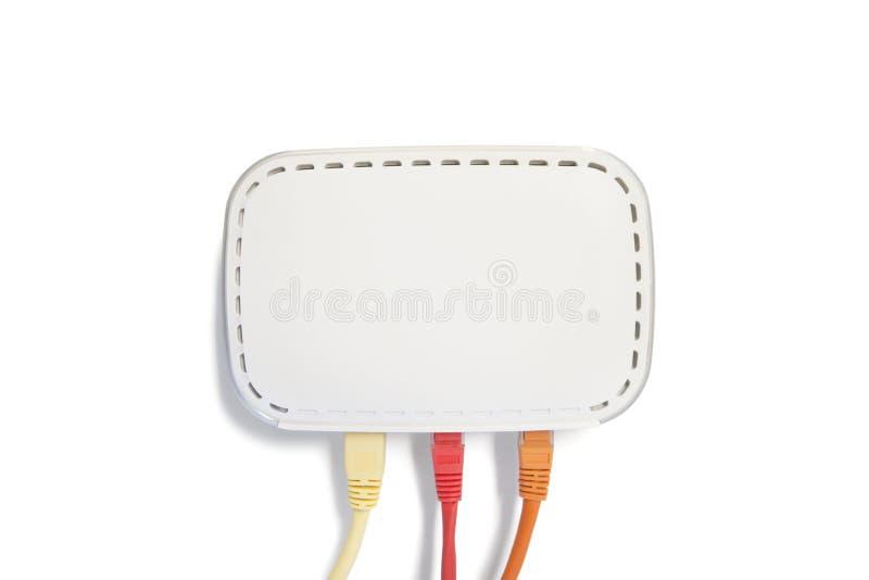 Câble d'ordinateur d'USB sur le fond blanc photos libres de droits