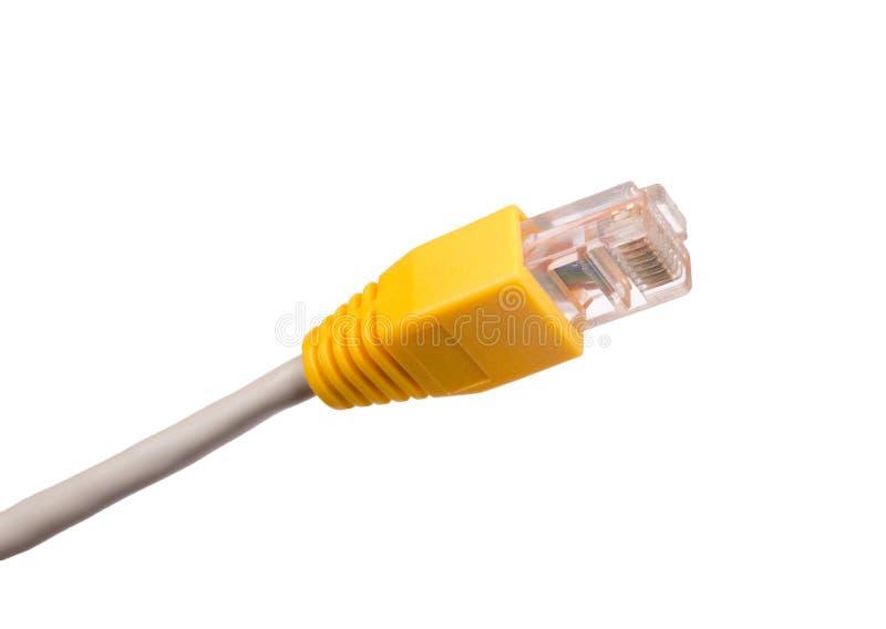 Câble d'ordinateur sur le blanc images libres de droits