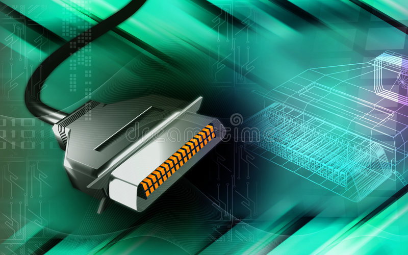 Câble d'USB illustration stock