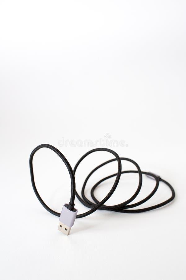 Câble d'USB de foudre photographie stock