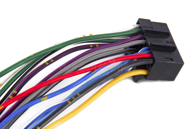 Câble de câblage de système audio de véhicule images libres de droits