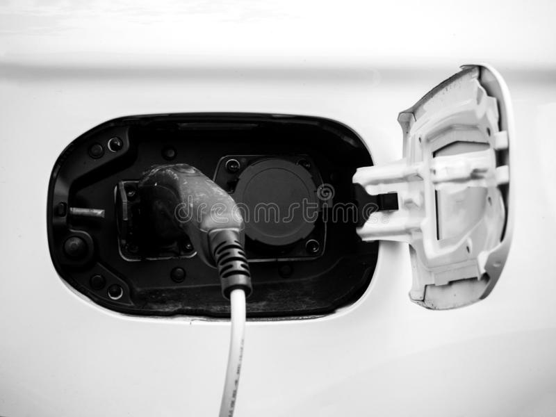 Câble de chargeur de voiture photo stock