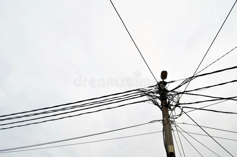 Câble de ciel images libres de droits