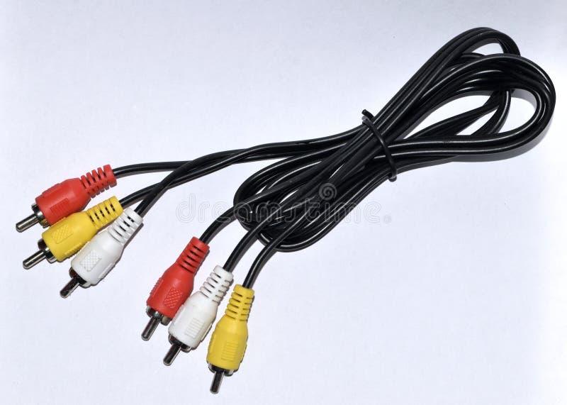Câble de connecteur de RWY RCA image libre de droits