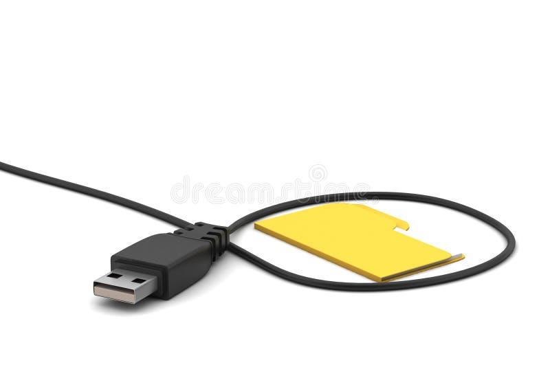 Câble de connexion avec le dossier illustration libre de droits