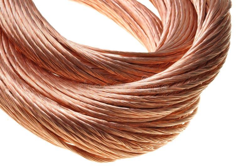 Câble de cuivre image stock