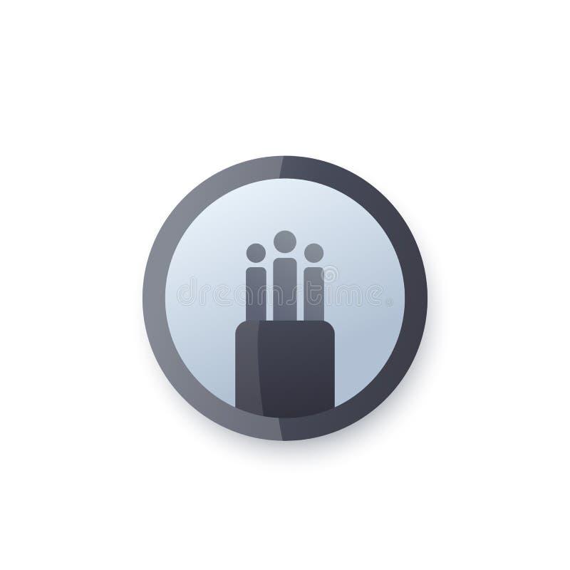 Câble de fibre optique, icône de vecteur de largeur de bande, logo illustration stock